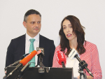 Prime Minister Jacinda Ardern and Climate Change Minister James Shaw launching the Bill last weeek.