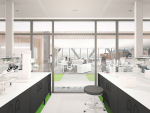 An architect's render of one of the labs to be incorporated in the new building.