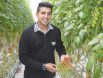 Young vegetable grower of the year Austin Singh Purewal.