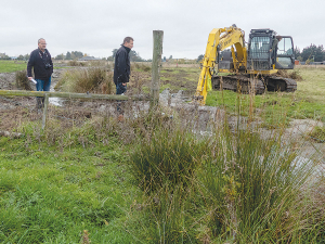 Work has begun on Dave Ashby's Fernside dairy farm.