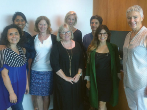 The National Committee, from left; Patricia Miranda-Taylor, Pragati Thorat, Nicky Grandorge, Kerry Stainton-Herbert, Sarah Szegota, Trudy Shield, Brittney Duval and Katherine Jacobs (Chair).